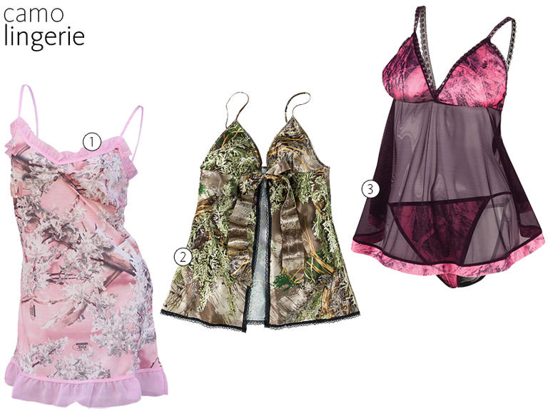 7d1666ac5f Looking for some camo lingerie to spice up your honeymoon  From Mossy Oak  baby-dolls to a Pink Shadow chemise