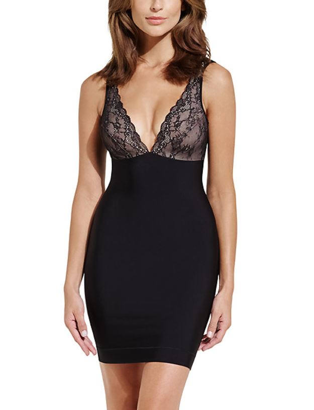 charnos lace shapewear slip with lace cups