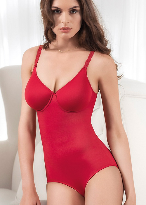 felina choice spacer bodysuit - red shapewear