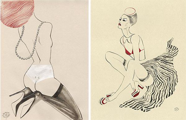 Artist M/J/ Von Huijkelon on Lingerie Briefs