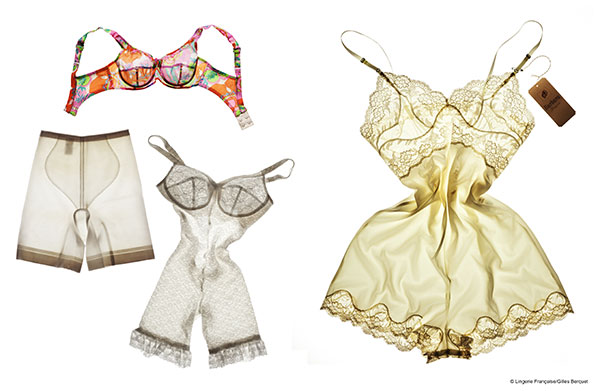 Gille Berquet photography of French Lingerie for Lingerie Francais and Art Basel on Lingerie Briefs